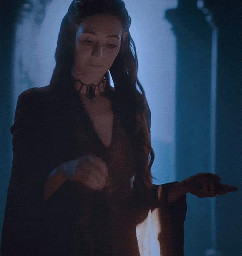 L'attrice Carice van Houten in una scena di Il Trono di Spade