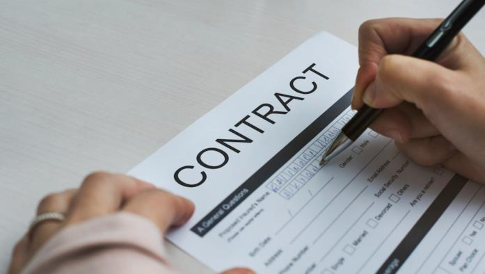 Un'immagine di un contratto