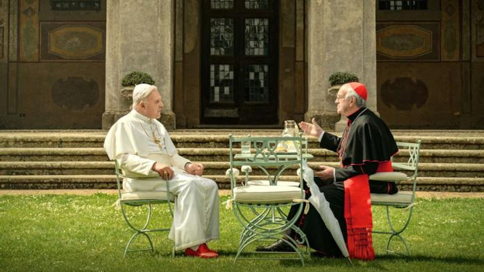 I due papi conversano in giadino