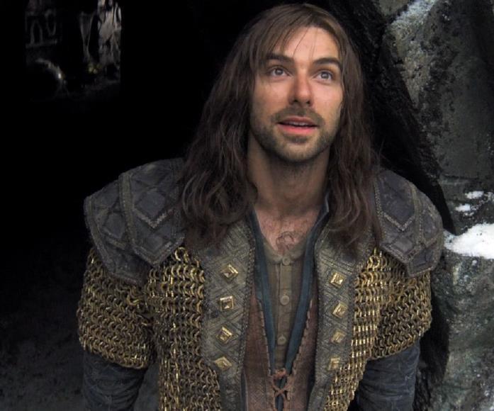 Aidan Turner è Kili nella trilogia Lo Hobbit