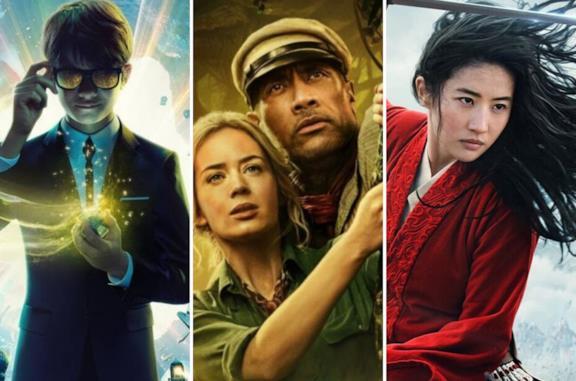 Da sinistra: Artemis Fowl, Jungle Cruise, Mulan