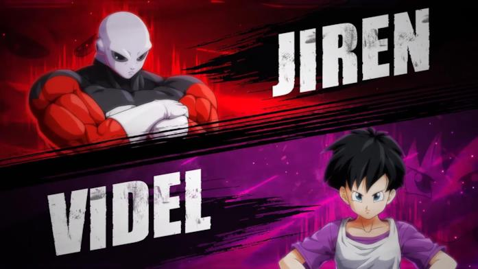 Jiren e Videl in Dragon Ball FighterZ