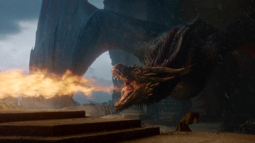Drogon distrugge il trono nell'episodio di GoT 8x06, The Iron Throne