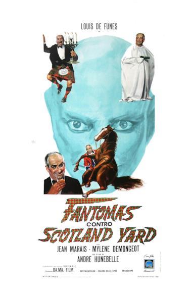 Poster Fantomas contro Scotland Yard