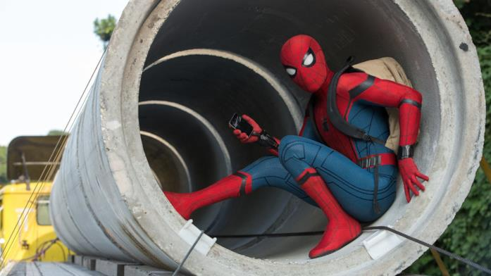Spider-Man in una scena di Spider-Man: Homecoming