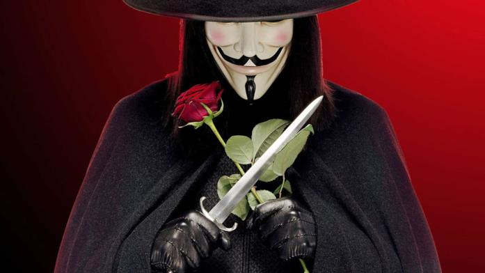 V, iconico personaggio di V per Vendetta