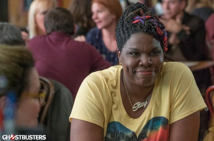 Lesie Jones sul set del reboot di Ghostbusters