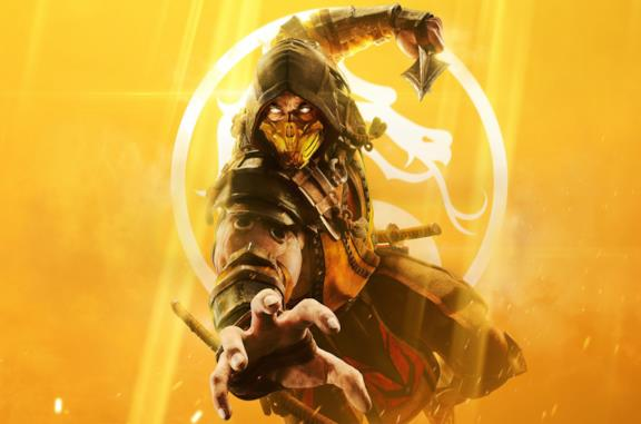 Scorpion sulla cover di Mortal Kombat 11