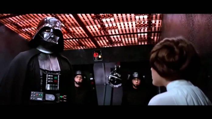 Immagine di Darth Vader e Leia