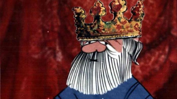 Il Re in Il cavaliere inesistente, diretto e animato da Pino Zac