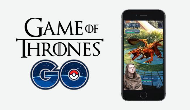 Logo finto e schermata di Game of Thrones GO