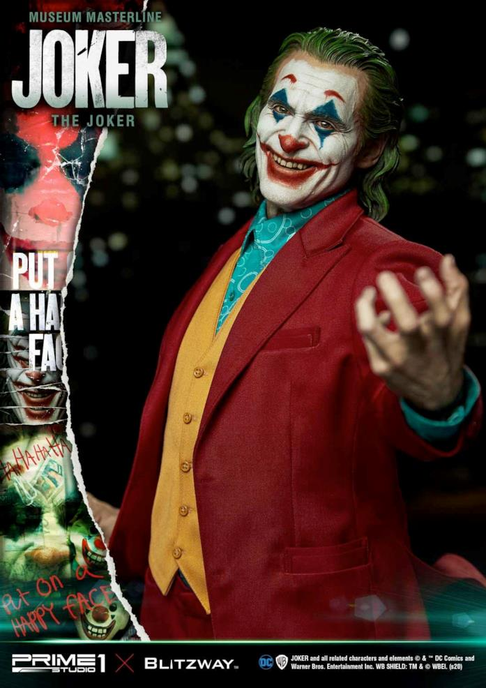 Una seconda immagine della statua di Joker da 1300 dollari
