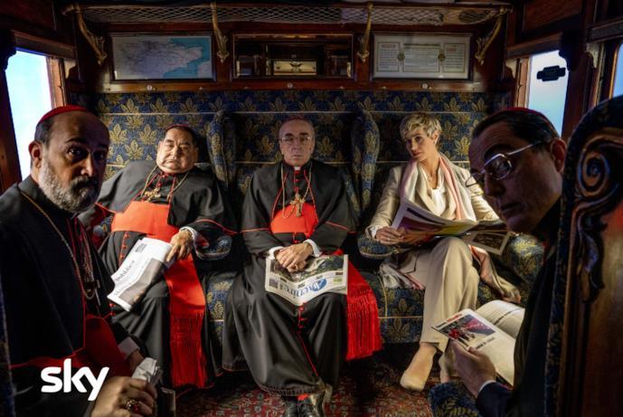 Una scena di The New Pope con Silvio Orlando