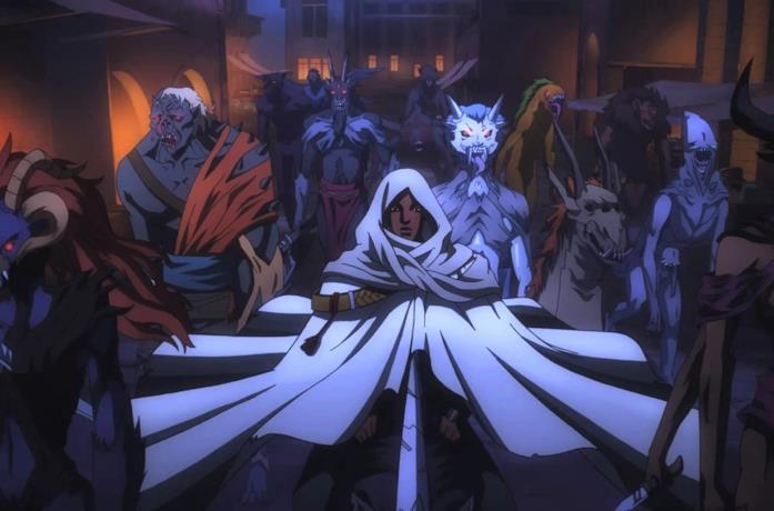Un'immagine di Isaac e della sua armata di demoni