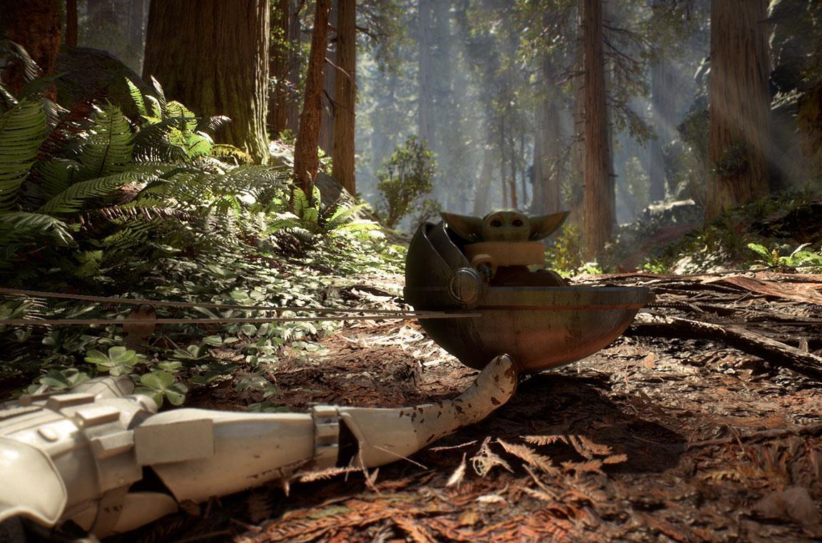 Una mod trasforma BB-8 in Baby Yoda su Star Wars Battlefront 2