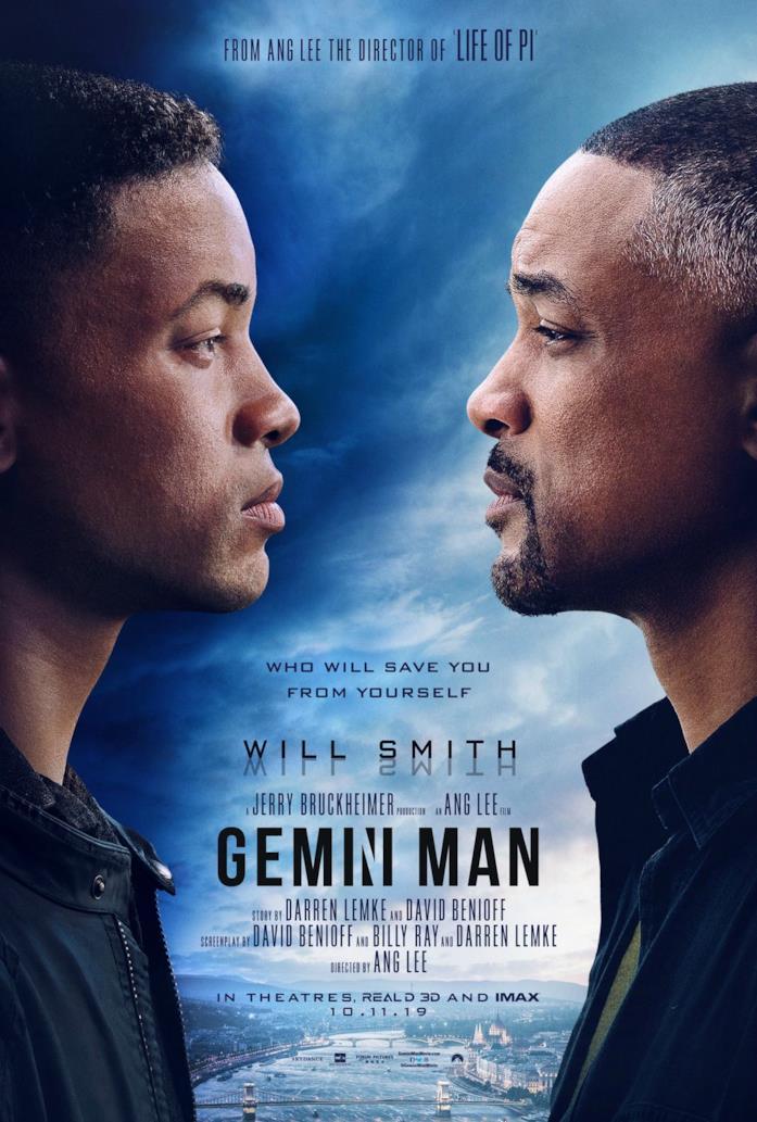 Will Smith nel poster italiano di Gemini Man