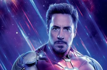 Un'immagine di Robert Downey Jr. come Iron Man