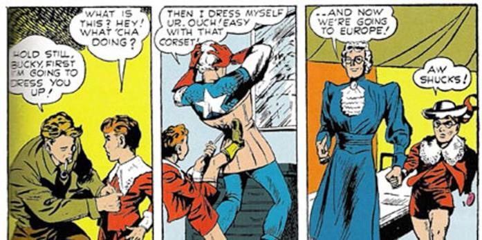 Il fumetto in cui Captain America si traveste da vecchietta