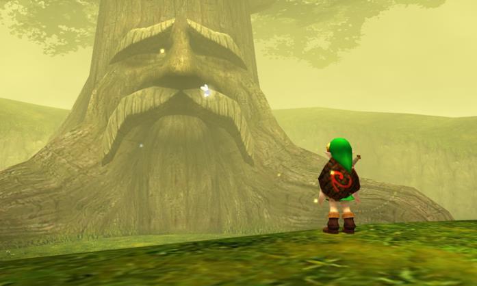 Una schermata di The Legend of Zelda Ocarina of Time 3D