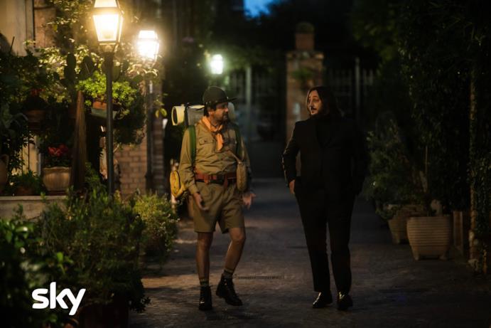 Ridatemi mia moglie: Giovanni (vestito da scout) e Antonio