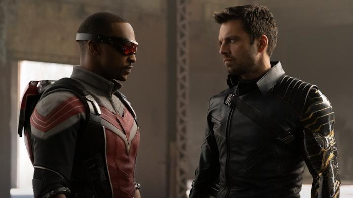 Anthony Mackie e Sebastian Stan come Sam e Bucky in The Falcon and the Winter Soldier