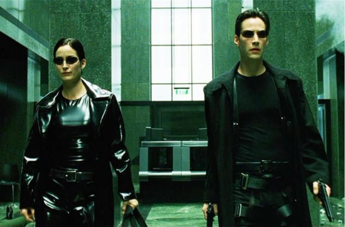 Un'immagine di Neo e Trinity