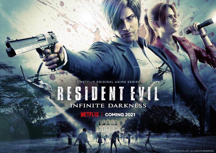 I protagonisti di Resident Evil: Infinite Darkness sulla locandina del film
