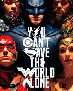 Il poster di Justice League presentato al SDCC 2017