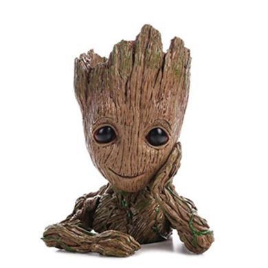 Baby Groot Flower Pot Marvel action figure dei Guardiani della Galassia per piante e penne Decorazione della stanza per bambini in famiglia, vasi di fiori, regali per bambini (single hand flower pot)