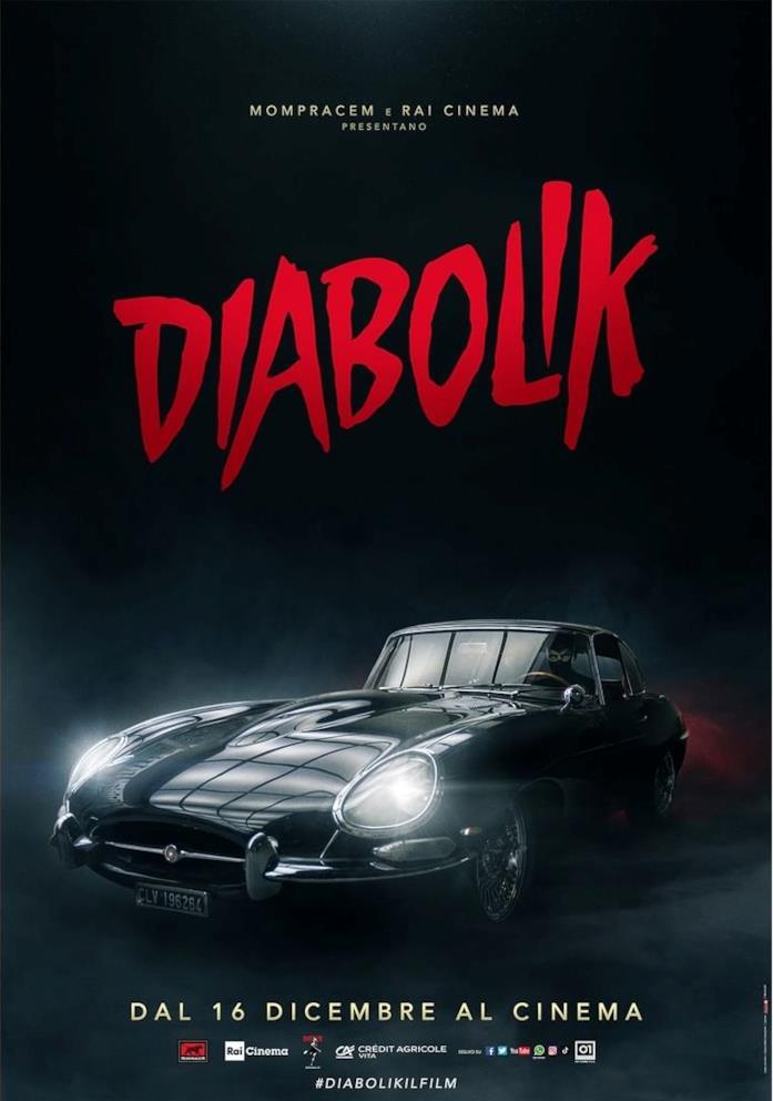 Il poster promozionale del live-action di Diabolik