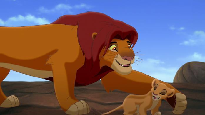 Simba e Kiara in Il Re Leone II - Il regno di Simba