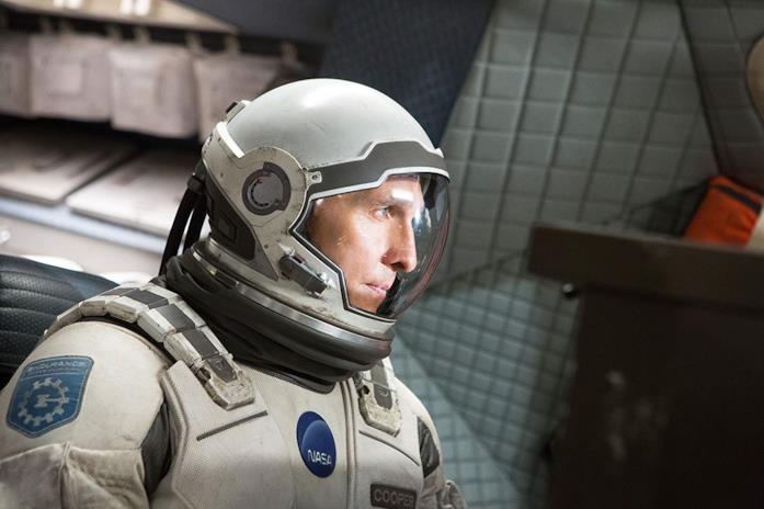Matthew McConaughey in una scena del film Interstellar