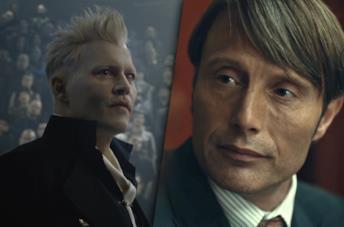 Johnny Depp (sinistra) e Mads Mikkelsen (destra)