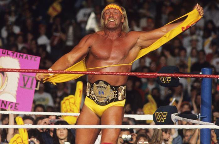 Un'immagine di Hulk Hogan sul ring