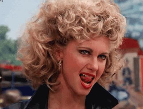 Sandy Olsson nella scena finale di Grease