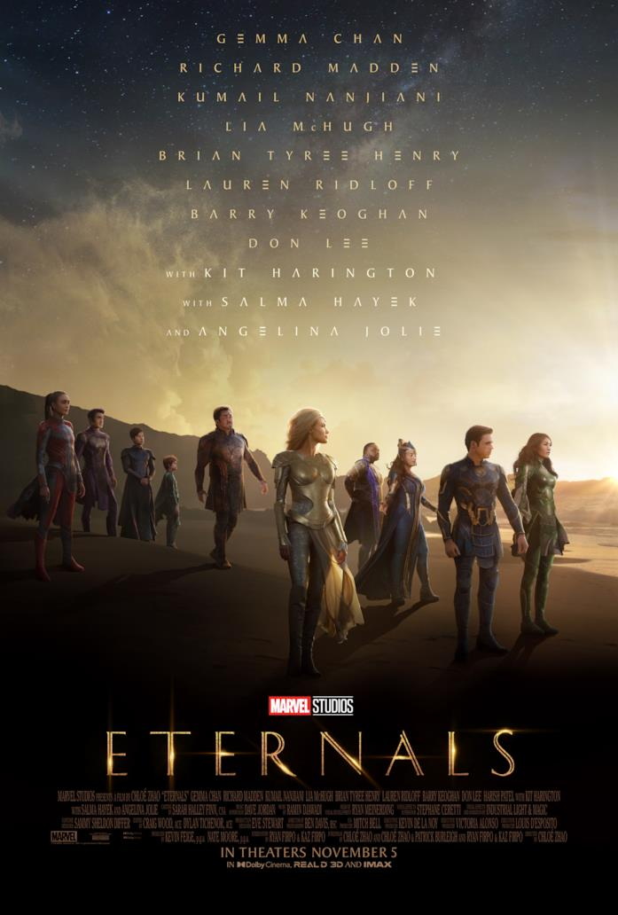 Il poster di Eternals