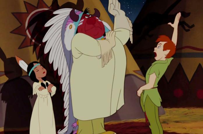 Una scene ritenuta razzista ne Le avventure di Peter Pan