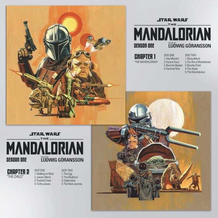 Le cover dei primi due vinili