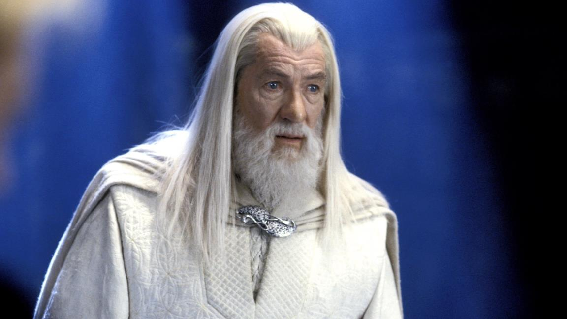 Ian McKellen nei panni di Gandalf