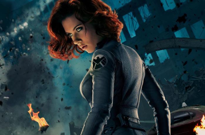 Vedova Nera nel poster promozionale di Avengers
