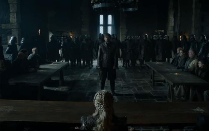 Jaime e Daenerys in Game of Thrones 8