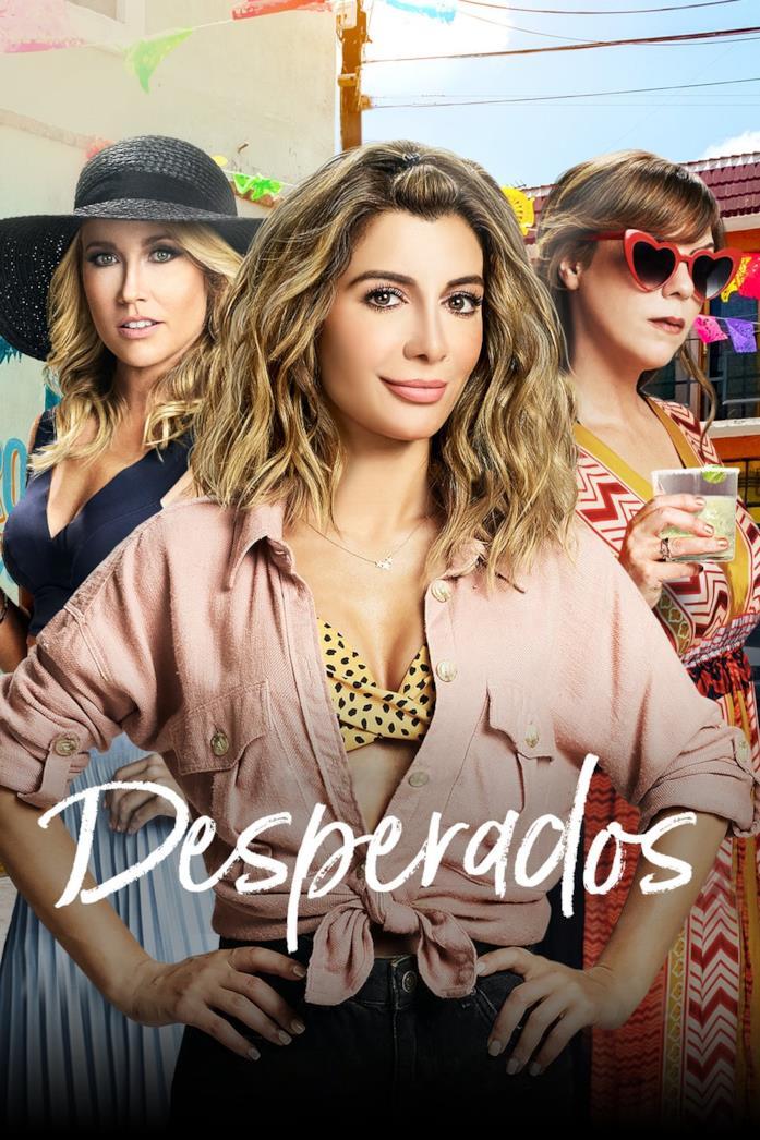 Primo piano del cast nel poster di Desperados