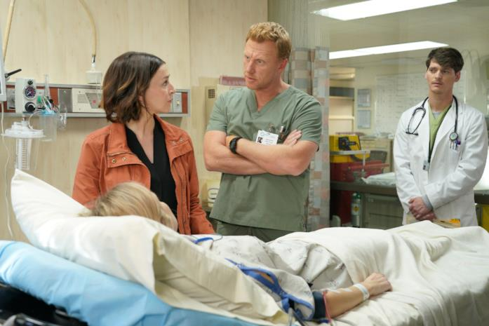 Owen Hunt e Amelia Shepherd in Grey's Anatomy 16