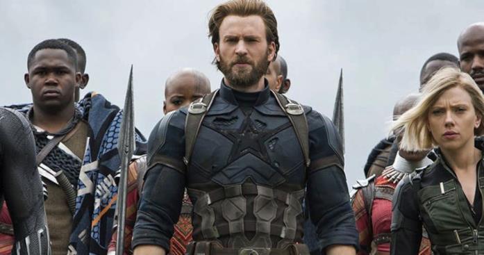 Captain America nella scena di battaglia finale di Endgame
