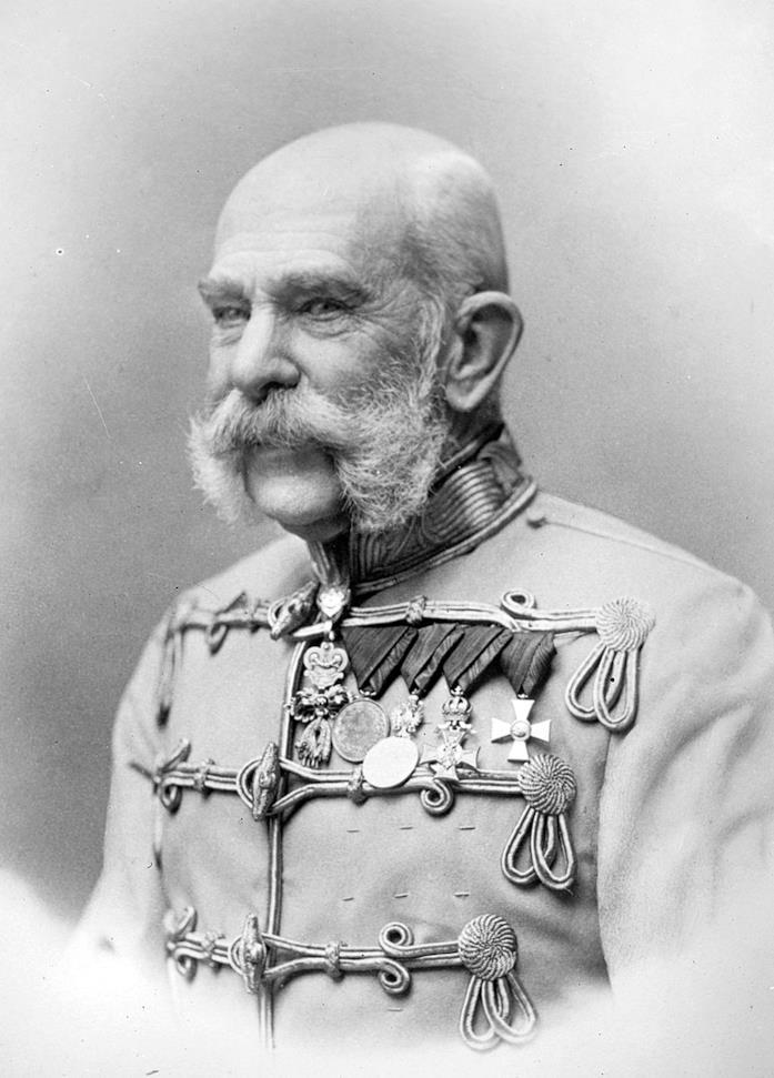 L'imperatore Francesco Giuseppe in una foto del 1903