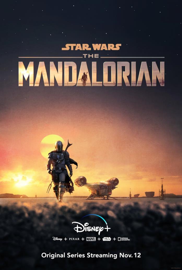 Il poster ufficiale di The Mandalorian
