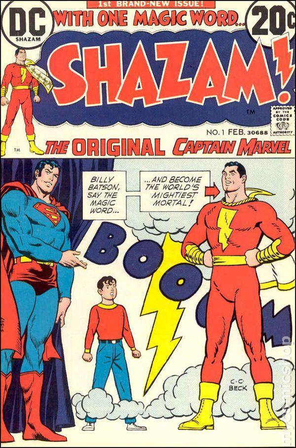 Copertina del #1 di Shazam del febbraio 1973