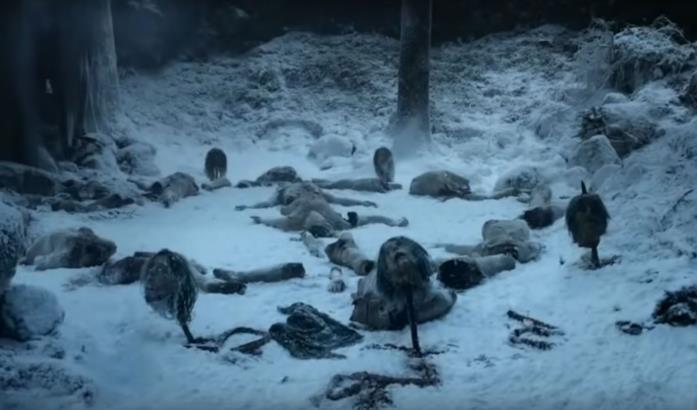 La strage degli Estranei in GoT 1x01