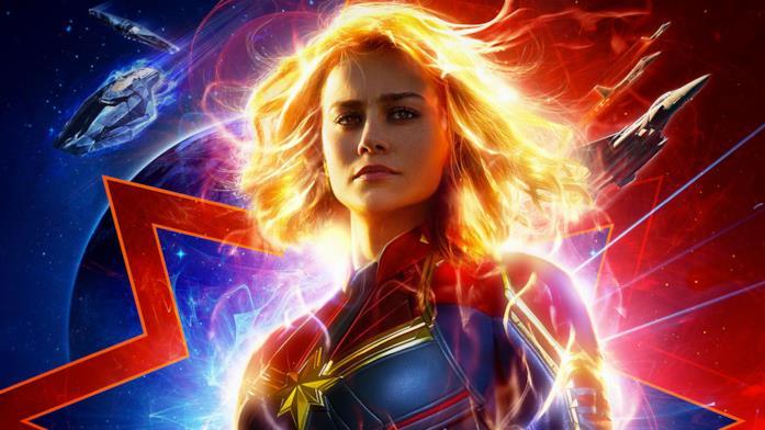 Brie Larson nel poster di Captain Marvel