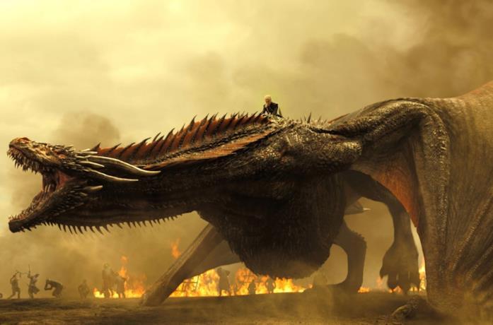 Drogon e Daenerys nell'episodio 7x04 di Game of Thrones, Spoglie di guerra